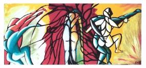 © - mixed media on canvas, 80 cm x 162 cm, 1999