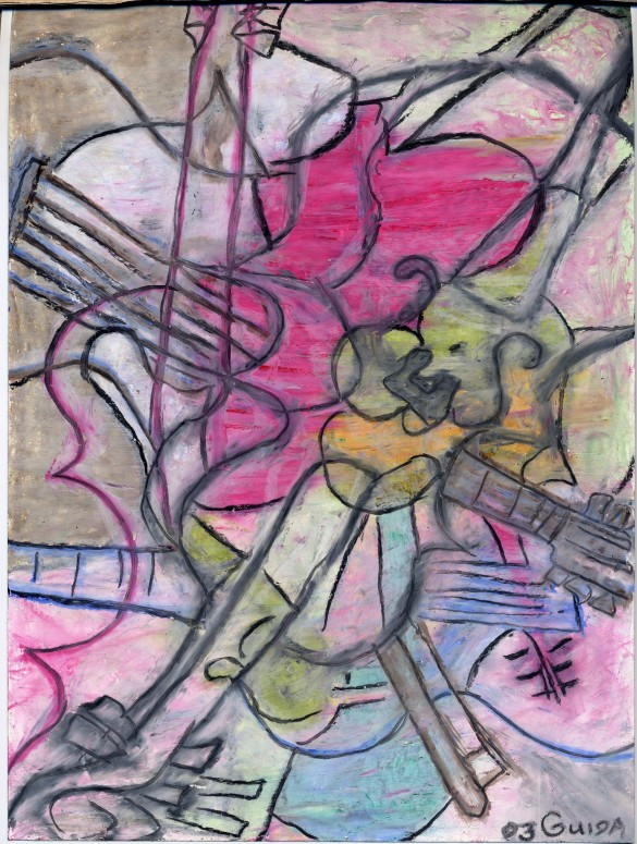 Study III of V_for Comissioned Paintings (oil on paper) by Guida Almeida 2003