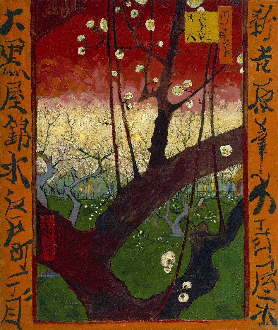Vincent_van_Gogh_-_Bloeiende_pruimenboomgaard-_naar_Hiroshige_-_Google_Art_Project