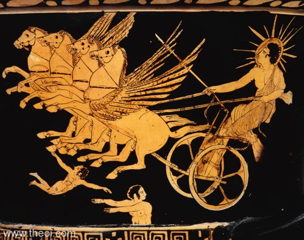 Helius the Sun photo source : http://www.theoi.com/Titan/Helios.html