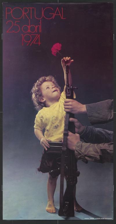 Poster - 25th April '74 | Cartaz : O menino do Cravo - fotografia de Sergio Guimarães